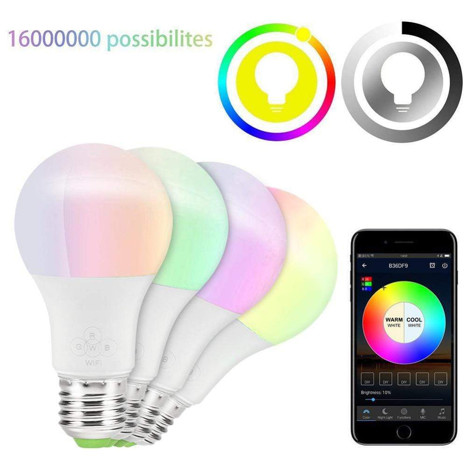 SmartBright - Full Control Smart LED Light Bulb & Bluetooth Speaker