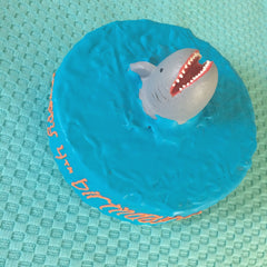 Shark Attack Dog Cake