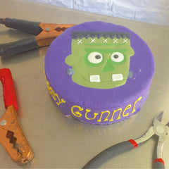 Frankenstein Dog Cake