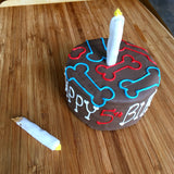 Big Dog Birthday Cake Candle