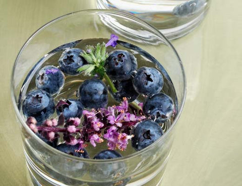 Blueberry and Lavender Infused Water