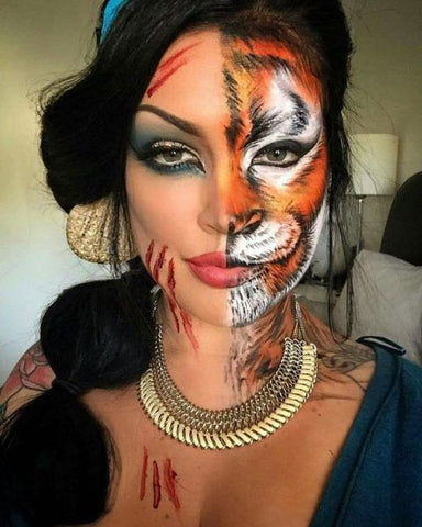 Halloween Makeup Ideas: Jasmine and her Tiger