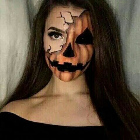 Halloween Makeup Ideas Pumpkin