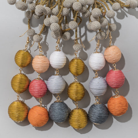 Spring Jewelry Trends: Colorful Orb Drop Earrings