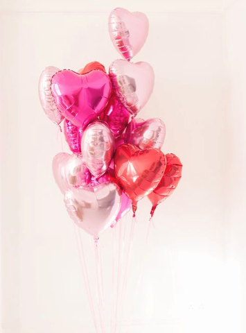 Valentine's day gift ideas: Pink Heart Balloons!
