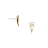 Spike Pave Stud Earrings