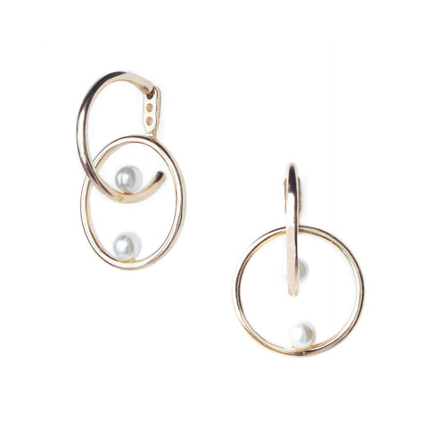 Classic Lightweight Leather Hoop Earrings