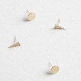 Disc Pave Stud Earrings