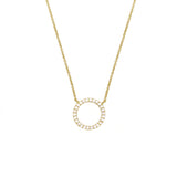 Eternity Pave Circle Necklace