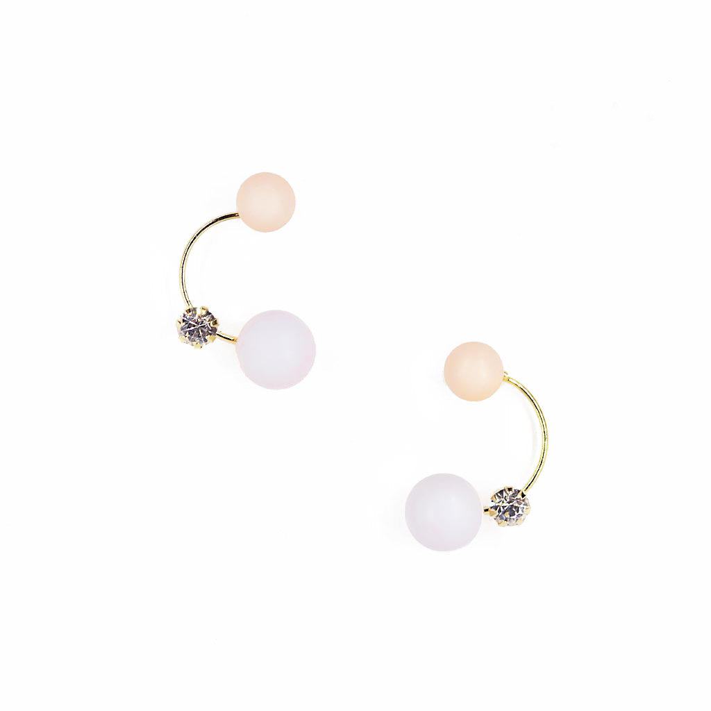 Orbit Stud Earrings Pink Blue