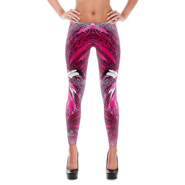 Pink Flamingo Love Leggings