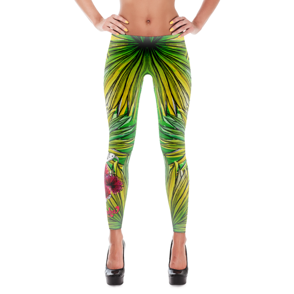 Tropical Palm Leaves Leggings
