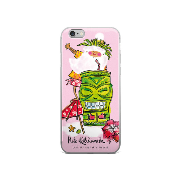 Tiki Santa Pink - iPhone Case