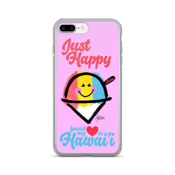 Just Happy in Hawaii iPhone 7/7 Plus Case
