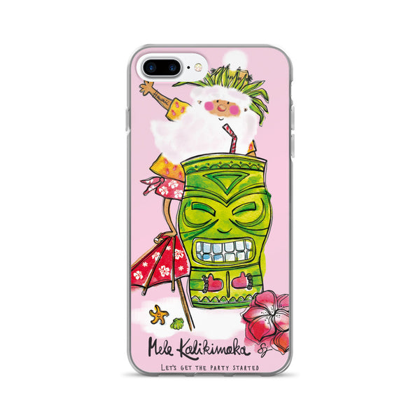 Tiki Santa Pink - iPhone 7/7 Plus Case