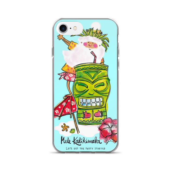 Tiki Santa Aqua - iPhone 7/7 Plus Case