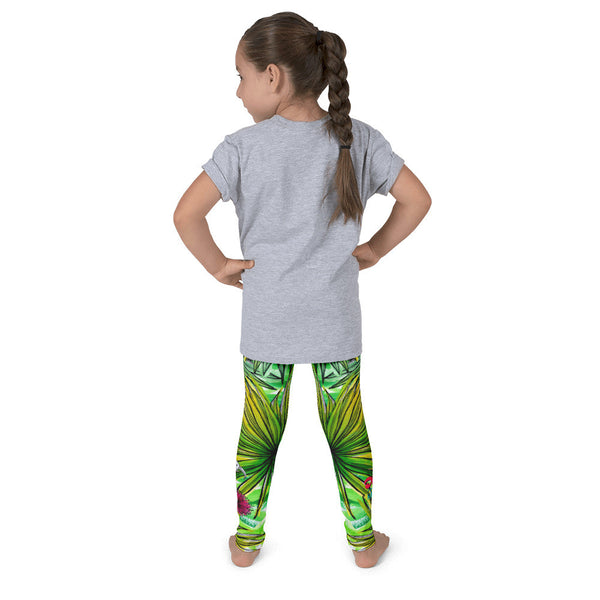 Kid's leggings - Tropical Palm Leaves