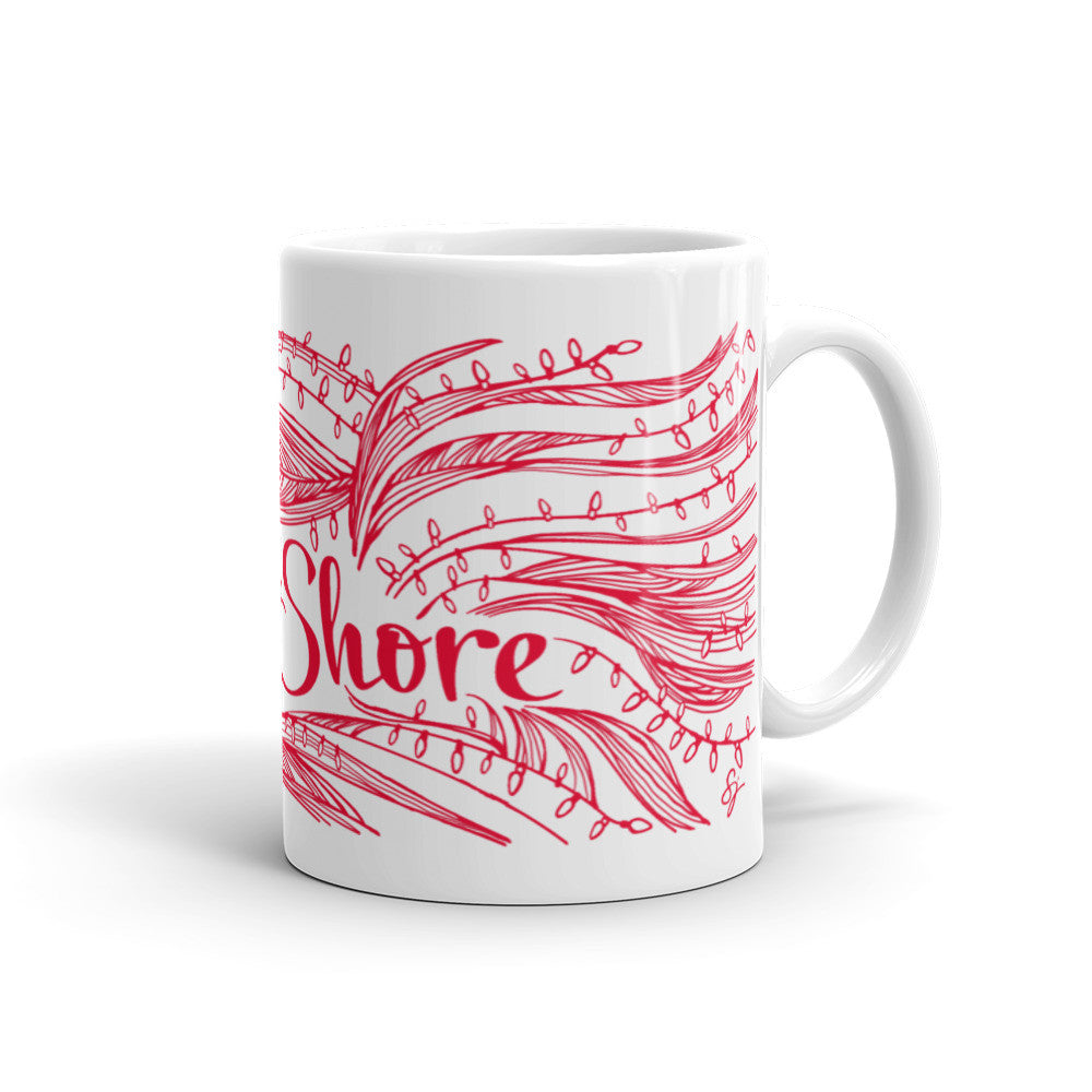 North Shore Holiday Mug Red