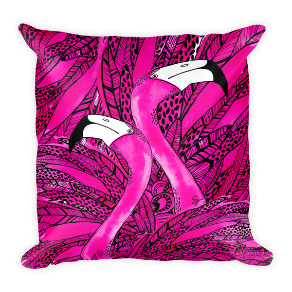 Pink Flamingo Pillow