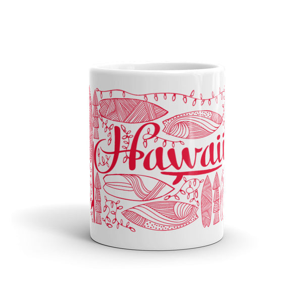 Hawaii Holiday Mug Red