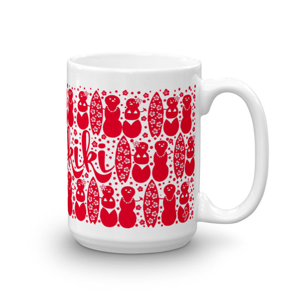 Waikiki Holiday Mug Red
