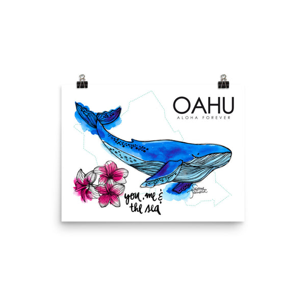 Oahu Illustration Poster