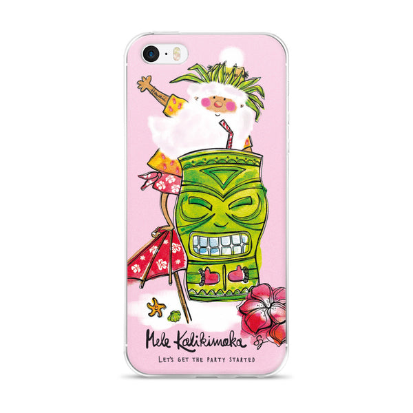 Tiki Santa Pink - iPhone 5/5s/Se, 6/6s, 6/6s Plus Case