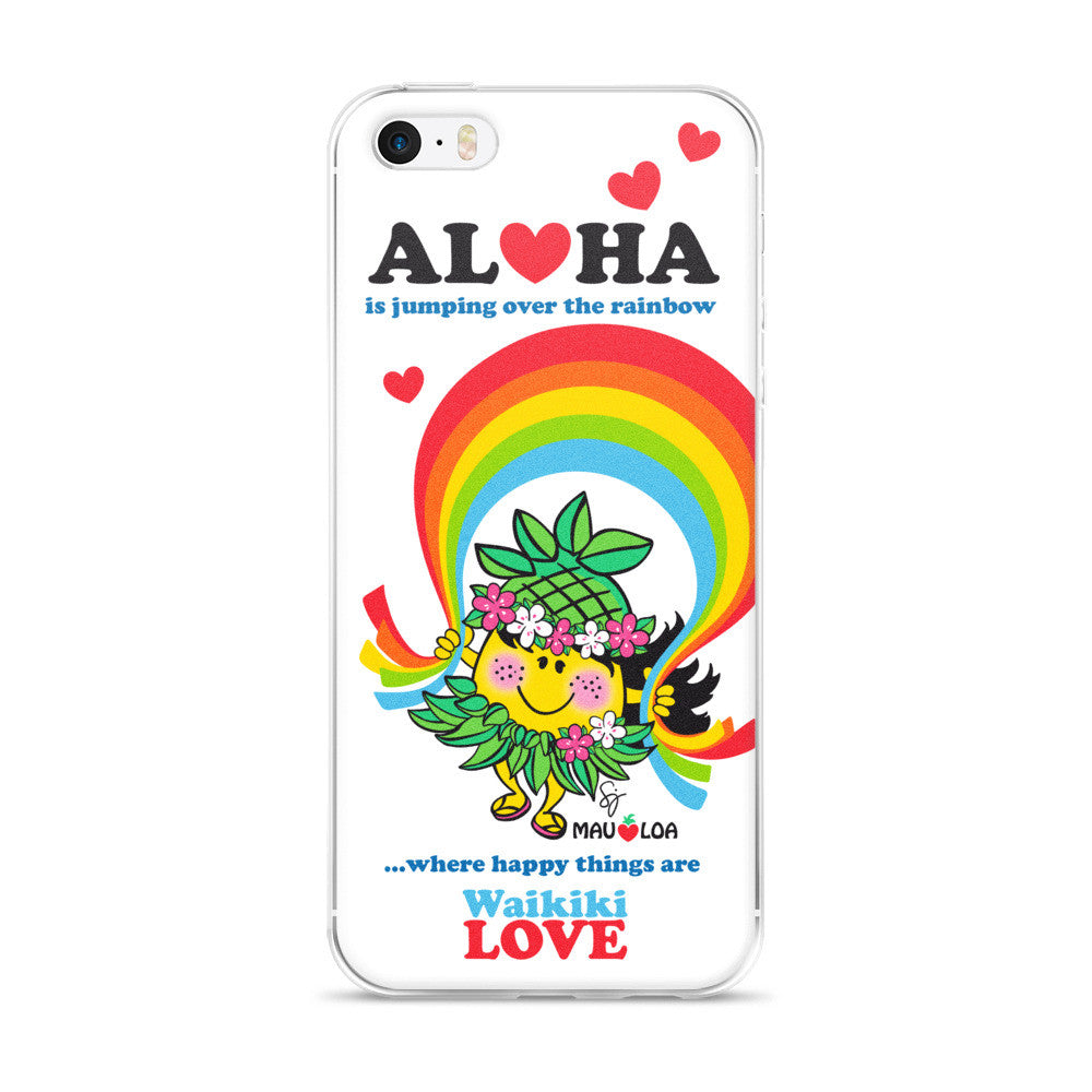 Aloha is jumping over the rainbow - iPhone Case