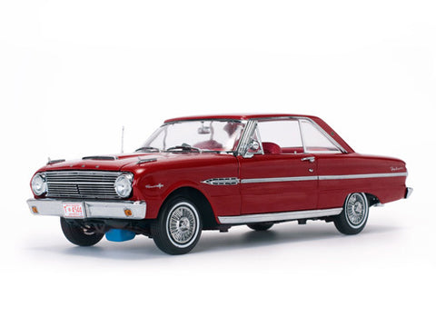 Diecast 1963 Ford Falcon Hard Top Rangoon Red 1/18