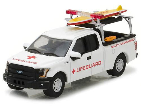 Diecast 2016 Ford F-150 with Lifeguard access. Hobby Exclusive 1/64