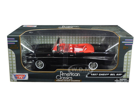 Diecast 1957 Chevy Bel Air Convertible black 1/18th