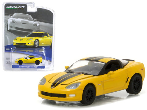 Diecast Chevy Corvette Z06 2012, velocity yellow, 1/64th