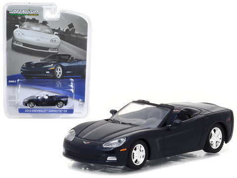 Diecast Chevy Corvette convertible 2013, night race blue 1/64th