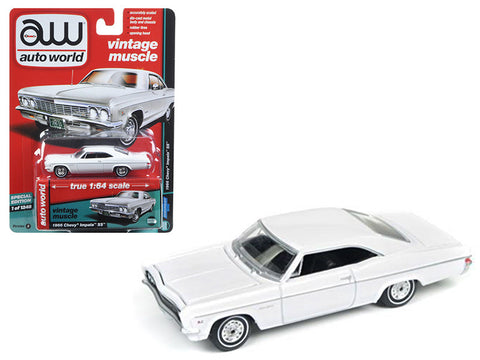 Diecast Chevy Impala 1966 in gloss black or gloss white, 1/64th