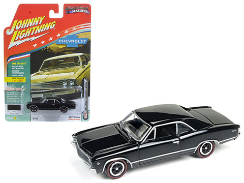 Diecast Chevrolet Chevelle 1967 G/S, black,  1/64 Muscle Car USA