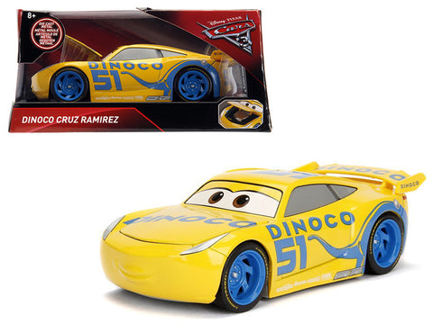 Disney Pixar Cars 3 movie Dinoco Cruz Ramirez Model Car by Jada
