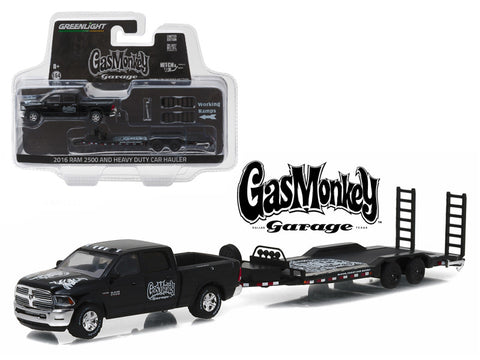 "Diecast Dodge Ram 2016 p/u Heavy Duty ""Gas Monkey Garage"" TV series. hitch & Tow series 8, 1/64"