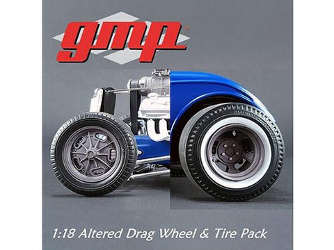 diecast Drag Wheels and Tires set 1/18