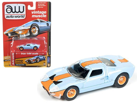 Diecast 1965 Ford GT40 , blue, orange , 1/64th
