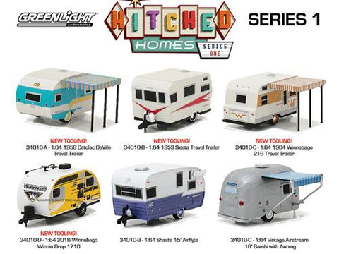 Diecast Hitched Home Series 1/64 by Greenlight    SOLD OUT