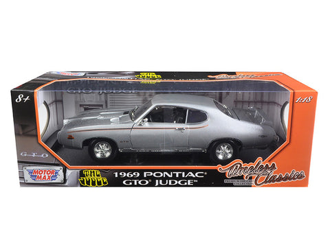Diecast Pontiac GTO Judge 1969, silver, 1/18th   SOLD OUT