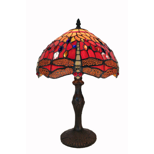 Tiffany Style Red Dragonfly Table Lamp - G121467A