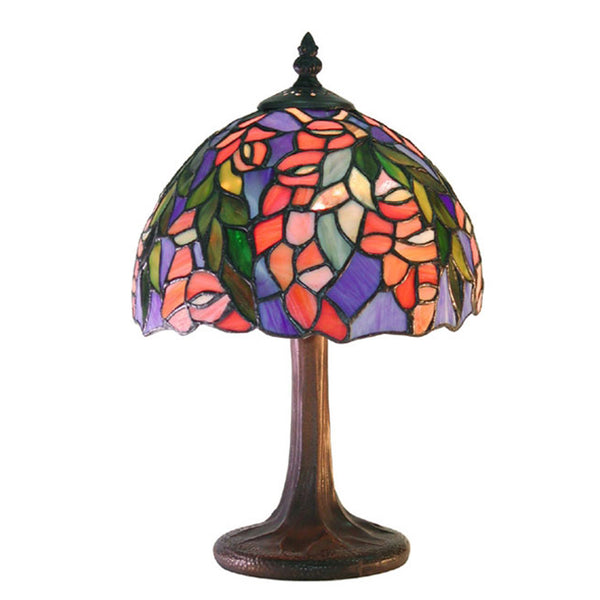 Tiffany-style Floral Table Lamp - M23+SB21