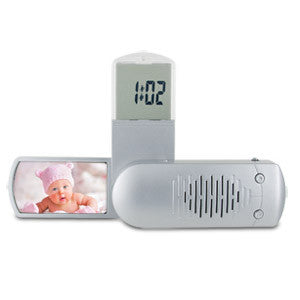 Travel Radio Alarm Clock With Photo Frame