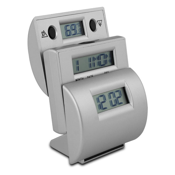 Ladder Travel Alarm Clock with Fahrenheit Temp - 7169248