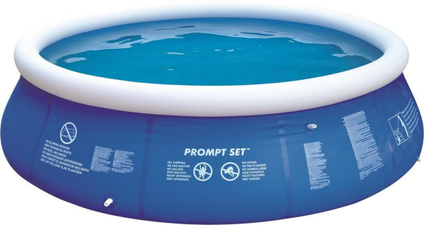 12' Blue and White Inflatable Above Ground Prompt Set Swimming Pool, JL010203NN