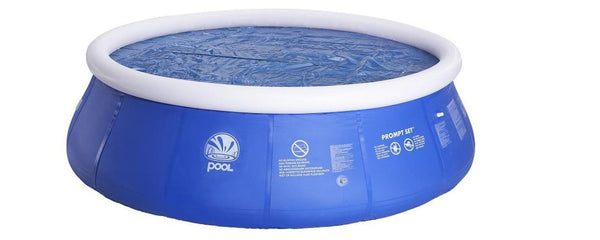 12' Blue Round Floating Solar Prompt Set Swimming Pool Cover, JL016119N