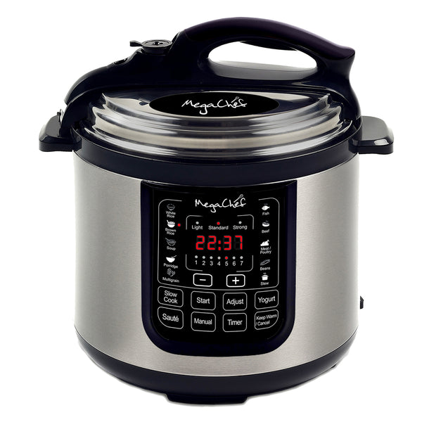 Megachef 8 Quart Digital Pressure Cooker with 13 Pre-set Multi Function Features - MCPR120A