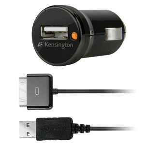 Kensington 1AMP PowerBolt Car Charger for iPod/iPhone - K39243CA