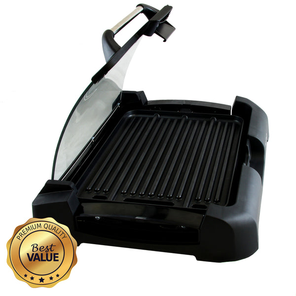 Megachef Reversible Indoor Grill and Griddle with Removable Glass Lid - MCG-106